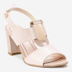 Sandale dama GIULIO. Model Piele Naturala Nude cu Catarama, Marime: 33, 34, 35, 36, 37, 38, 39, 40, 41