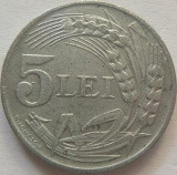 Moneda 5 Lei - ROMANIA, anul 1942 *cod 749  Zinc vf