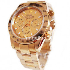 Rolex Daytona Gold Automatic! ! ! Super Pret ! CEL MAI MIC PRET ! CUTIE CADOU ! - Ceas barbatesc Rolex, Lux - elegant, Mecanic-Automatic, Inox, Analog