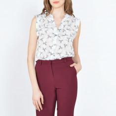 Bluza dama Raspberry. Model Sleeveless White, Marime: 34, 36, 38