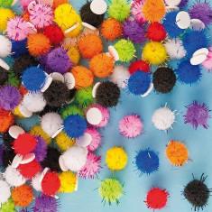 Pom-Pom Gliter Autoadeziv - Baker Ross - Jocuri arta si creatie