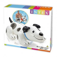 Catel Gonflabil Intex Inflatable Puppy Ride On Beach Toy Lilo Swim Pool Float