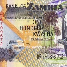100 K Zambia 2006 - bancnota africa