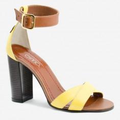 Sandale dama GIULIO. Model Piele Naturala Galben Havan, Marime: 35, 37, 38, 39, 40