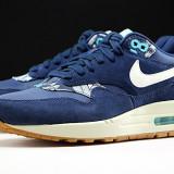 ADIDASI ORIGINALI 100% NIKE AIR MAX 1 PRINT blue din germania Nr 38.5 - Adidasi dama Nike, Culoare: Din imagine