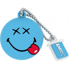 Memorie USB Emtec Smiley World Happy Days 8GB USB 2.0 Blue - Stick USB