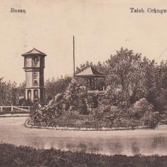 BUZAU, TEICH CRANGU, CIRCULATA 1918 FELDPOST - Carte Postala Muntenia dupa 1918, Printata