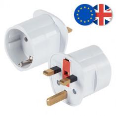 Adaptor priza EU la UK siguranta 13A cu impamantare Anglia