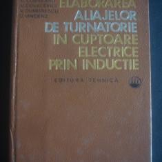 ELABORAREA ALIAJELOR DE TURNATORIE IN CUPTOARE ELECTRICE PRIN INDUCTIE - Carti Metalurgie