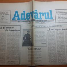 ziarul adevarul 22 august 1990-100 de ani de la moartea lui vasile alecsandri