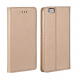 Husa iPhone 5 5S SE Flip Case Inchidere Magnetica Gold