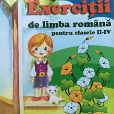 EXERCITII DE LIMBA ROMANA PENTRU CLASELE II - IV - Carmen Iordachescu, Carminis