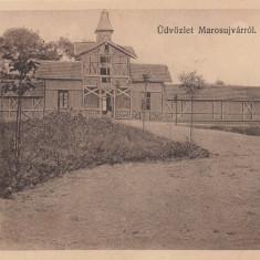 OCNA MURES, BAZINELE DE INOT, ED. FUSSY JOZSEF, MURES - Carte Postala Transilvania 1904-1918, Necirculata, Printata