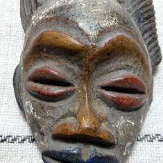 ARTA AFRICANA VECHE - MASCA CERAMICA - PATINA ORIGINALA - PIESA DE COLECTIE - Arta din Africa