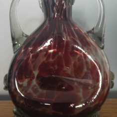 Vaza de sticla Padurea Neagra, anii '70 - '80, epoca comunista, 21 cm - Bibelou
