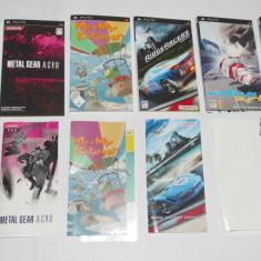 Lot 6 coperti si manuale jocuri PSP - originale, Alte accesorii