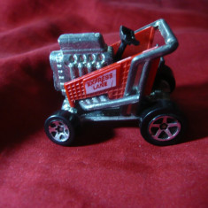 Tractoras metalic marca Express-Lane 1998 Malysia, dim.=4x3, 5 cm - Jucarie de colectie