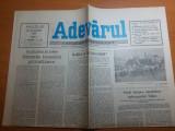 ziarul adevarul 23 august 1990-miting la universitate, 8 luni de la revolutie