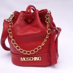 Geanta dama Moschino rosie mica, Culoare: Rosu, Asemanator piele