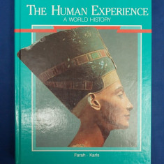 ENCICLOPEDIE ~ THE HUMAN EXPERIENCE * A WORLD HISTORY (FARAH/KARLS) -OHIO - 1990