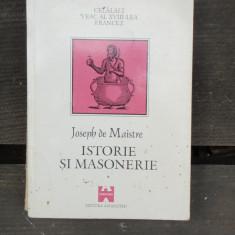 ISTORIE SI MASONERIE - JOSEPH DE MAISTRE - Carte Hobby Masonerie