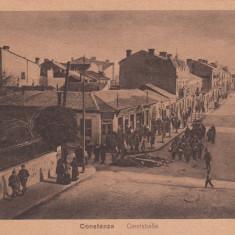 CONSTANTA, STRADA REGELE CAROL I - Carte Postala Dobrogea dupa 1918, Necirculata, Printata