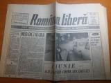 "Ziarul romania libera 1-2 iunie 1991-art. ""1 iunie -o zi pt copiii abandonati """