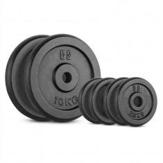 CAPITAL SPORT IPB 30 kg, greutati 4 x 2, 5 kg + 2 × 10 kg, 30 mm, negru