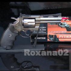 BRICHETA Pistol PYTHON 357. Bricheta BIROU Full METAL. Mecanism Mobil - Bricheta Cu Gaz