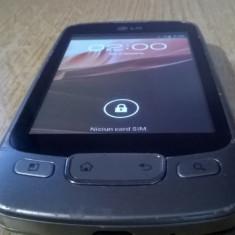TELEFON OPTIMUS ONE LG-P500 CU DEFECTE SI LIPSURI - Telefon LG, Gri, <1GB, Neblocat, Single SIM, Single core