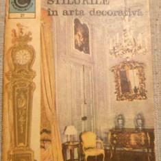 Stilurile in arta decorativa, Caleidoscop, Ed. Ceres, nr. 27, 1970