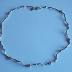 Colier de argint cu zirconii roz -711 - Colier argint