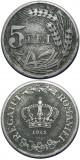 ROMANIA, 5 LEI 1942  * cod 76, Zinc