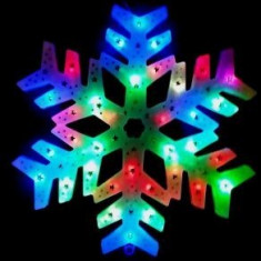 Ornament leduri multicolore Fulg de nea - Ornamente Craciun