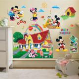 STICKER Mickey Mouse Clubhouse AUTOCOLANT decoratiuni PERETE 8 Elemente 60x90 cm