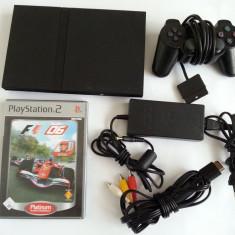 Consola PlayStation 2 Sony + joc F1 + maneta + alimentator + cablu tv originale PS2
