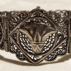 RARA Bratara argint multiple SIMBOLURI EGIPT 1900 SPLENDIDA de efect SUPERBA