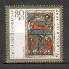 Germania.1987 Nasterea Domnului-Miniatura SG.587 - Timbre straine, Nestampilat
