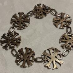 UNICAT Bratara argint RARA aurita pe o parte EGIPT 1900 SUPERBA vintage de Efect