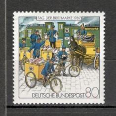 Germania.1987 Ziua marcii postale SG.581 - Timbre straine, Nestampilat