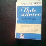NOTE ZILNICE 1927 - 1940 - CAMIL PETRESCU - Biografie