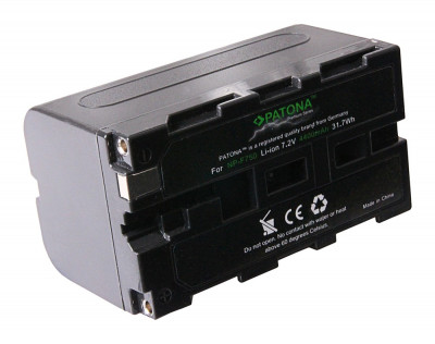 Acumulator Premium Sony NP-F750,NP-F970,NP-F550, compatibil marca Patona, foto