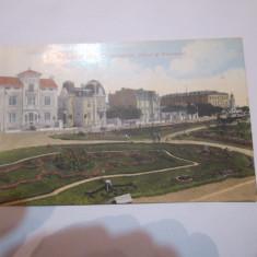 Cp constanta anul 1912 parcul si bulevardul timbrata si circulata - Carte Postala Dobrogea 1904-1918, Printata