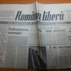 Ziarul romania libera 8 mai 1991-art. iliescu -ultimul gorbaciovist
