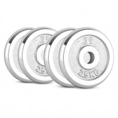 CAPITAL SPORTS CP 10 kg, set de discuri pentru gantere 4 x 2, 5 kg, 30 mm