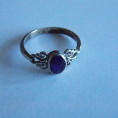 Inel de argint cu piatra albastra -719 - Inel argint