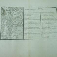 Tulcea plan de atac al flotei turcilor 1771 General Weiffinan gravura - Carte veche