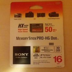 Card Sony MS Pro-HG Duo Seria HX 16 GB 50MB/s - Card Memory Stick Pro Duo