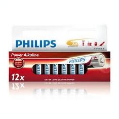Set de 12 baterii alcaline LR6 AA Philips