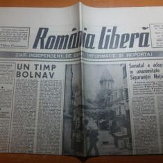 "ziarul romania libera 22 mai 1991-art. "" un timp bolnav"""